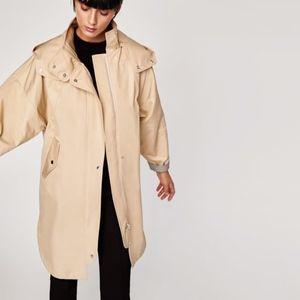 Zara Hooded Trench/Rain Coat